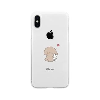 イヌのばぶぅちゃん Soft clear smartphone cases