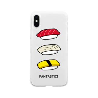 寿司 Soft clear smartphone cases
