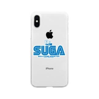 菅首相 内閣総理大臣 SUGA Soft clear smartphone cases