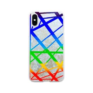 衛星。 Soft clear smartphone cases