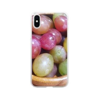 龍の宝珠 Soft clear smartphone cases