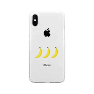一手間banana Soft clear smartphone cases