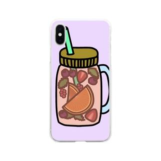 フルーツウォーター Soft clear smartphone cases