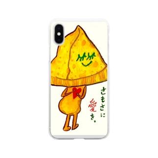 サモサちゃん Soft clear smartphone cases
