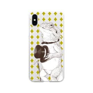 フトアゴヒゲトカゲ紳士 Soft clear smartphone cases