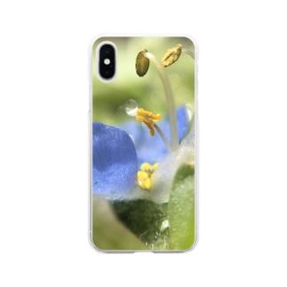 きらめきの花 Soft clear smartphone cases