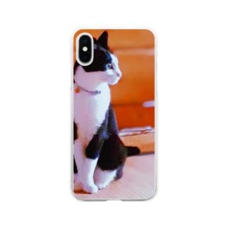 ちーちゃんの 熱視線 Soft clear smartphone cases