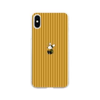 [Rabit]スマホケース(黄)[複数機種] Soft clear smartphone cases