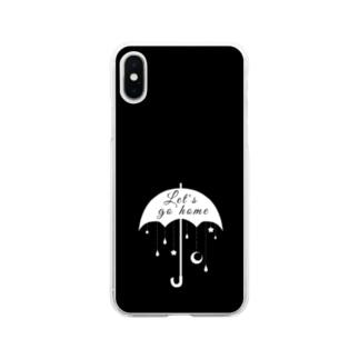 帰ろうか モノクロ2 Soft clear smartphone cases