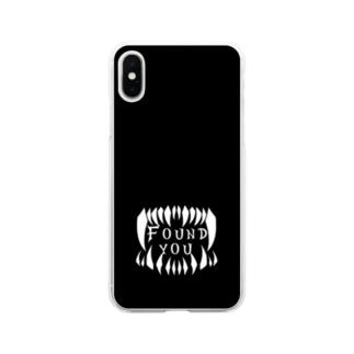 見つけた モノクロ2 Soft clear smartphone cases