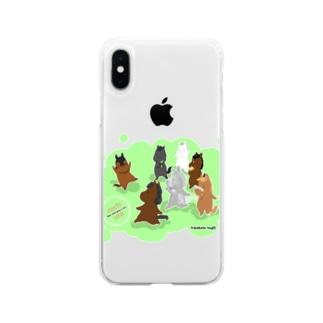 もちうま Soft clear smartphone cases