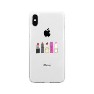 リップ Soft Clear Smartphone Case