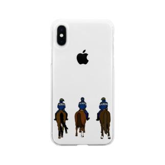 フランス・パリの騎馬隊 Soft clear smartphone cases