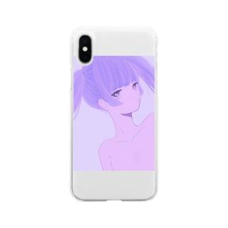 ツインテ男子 Soft clear smartphone cases