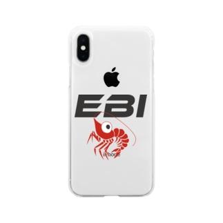 ごきげんなエビ Soft clear smartphone cases