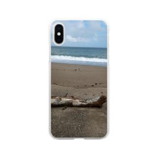 秋の海 Soft clear smartphone cases