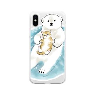 愛の漂着時 Soft clear smartphone cases