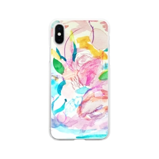 coaiの花のイロ Soft clear smartphone cases
