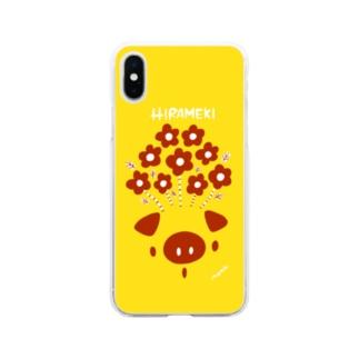 HIRAMEKI ぶた Soft clear smartphone cases