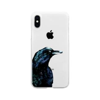 -枯らす- Soft clear smartphone cases