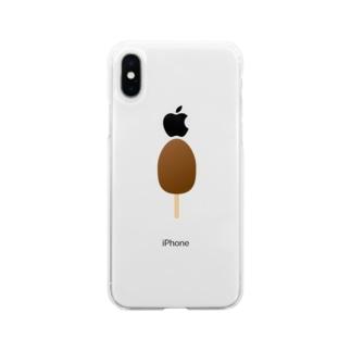 アイス Soft clear smartphone cases