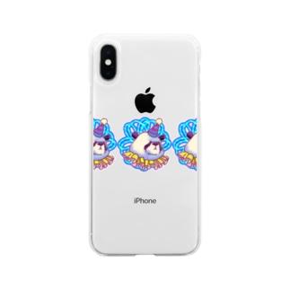 善悪両成敗パンダちゃん Soft clear smartphone cases