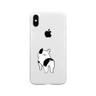 おやつを待ついぬ Soft clear smartphone cases