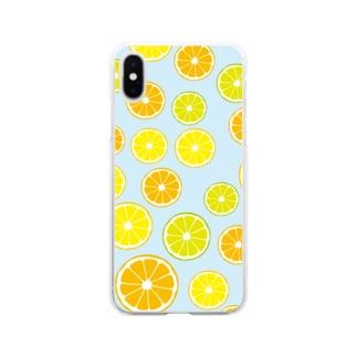 オレンジ&レモン&ライム  Soft clear smartphone cases