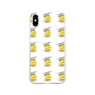 めちゃくちゃ伝わるハンバーガー Soft clear smartphone cases