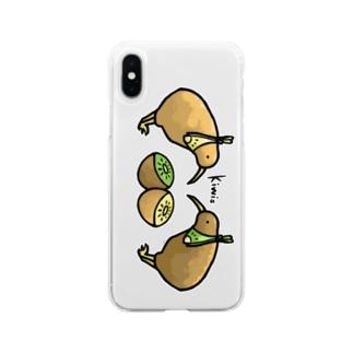 キーウィたち Soft clear smartphone cases
