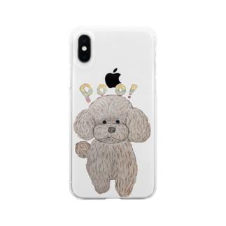 ぷぅー Soft clear smartphone cases