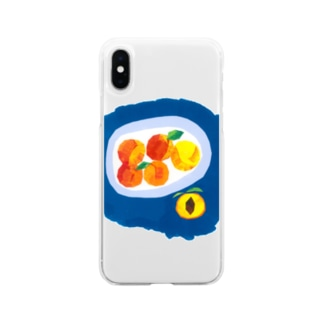 もえのプラム Soft clear smartphone cases