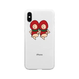 いちごの妖精さん Soft clear smartphone cases