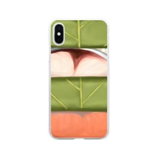 柿の葉寿司 Soft clear smartphone cases