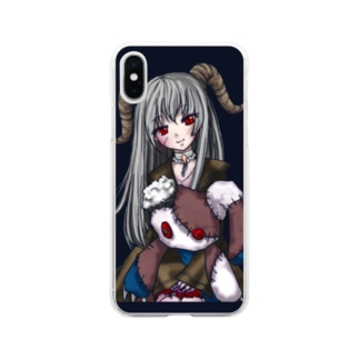 悪魔っ子 Soft clear smartphone cases