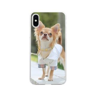 湘南にゃんわんふぉと🐶の愛犬グッズ(sampleご購入不可) Soft clear smartphone cases