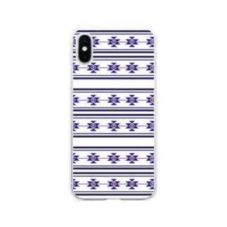 ネイティブ柄 Soft clear smartphone cases