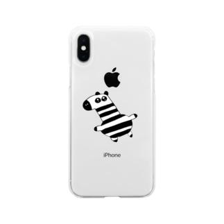 馬刺し Soft clear smartphone cases