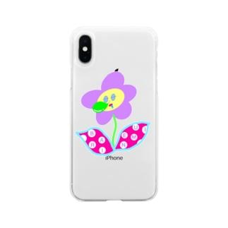 バリ眠ハナちゃん Soft clear smartphone cases