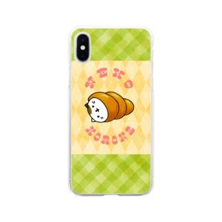 ネココロネ アーガイルチェック Soft clear smartphone cases