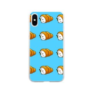 ネココロネ みずいろ Soft clear smartphone cases