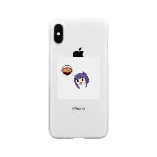 豚汁ちゃん Soft clear smartphone cases