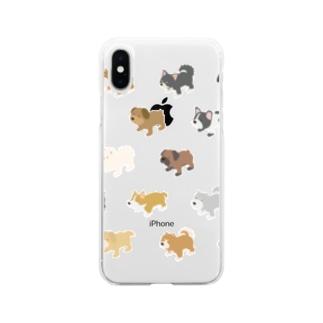 イッヌいっぱい天国 Soft clear smartphone cases