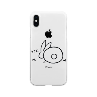 うさぎ。 Soft clear smartphone cases