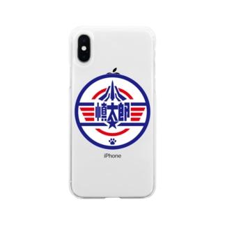 パ紋No.3400 慎太郎 Soft clear smartphone cases