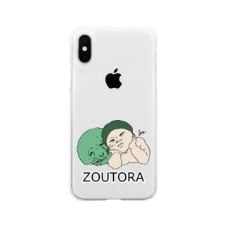 ゴマフと僕 Soft clear smartphone cases