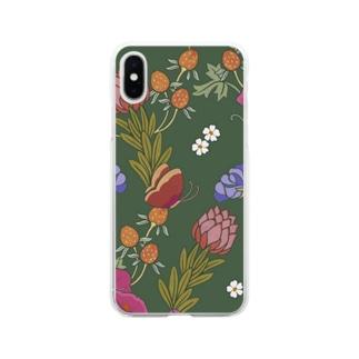 森の花 Soft clear smartphone cases