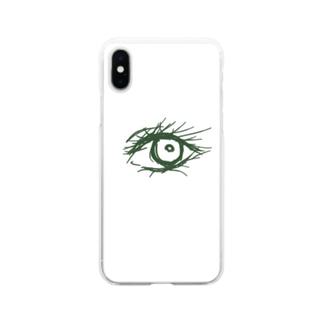 瞳 Soft clear smartphone cases