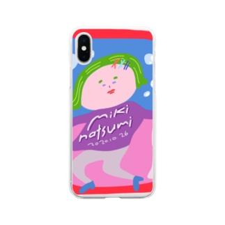 みきなつみ miki natsumiのみきなつみのオシャレスマホケース Soft clear smartphone cases