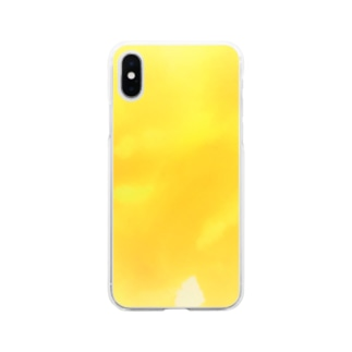 Autumn Yellow 水彩 Soft clear smartphone cases